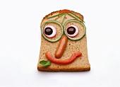 Open sandwich for children