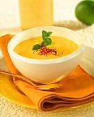 Saffron and coconut soup