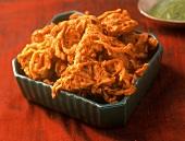 Kandyachi bhaji (deep-fried onions) Maharashtra, India