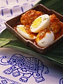 Malabar egg masala (eggs in spicy curry sauce, India)