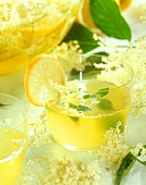 Elderflower punch with lemon balm