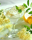 Elderflower sorbet