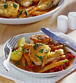 Braised chicken with carrots