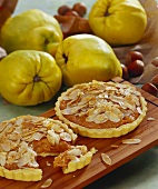 Carrot and quince tarts with flaked almonds