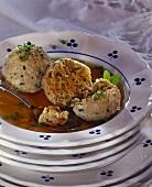 Liver dumpling soup