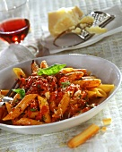 Penne al ragù (Penne with mince sauce, Italy)