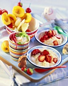 Various children's fruit desserts