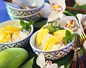 Rice with coconut and mango (Thailand)