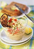 Aubergine and chick-pea spread