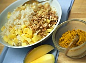 Curried rice stuffing for roast goose