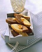 Orange and nougat biscuits