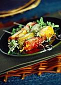 Chili rolls au gratin