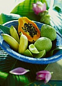 Exotic fresh fruit from the Caribbean