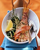 Triglie al forno (Oven-baked red mullet with Parma ham)