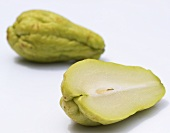Chayote, one halved
