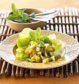 Potato salad with cucumber and mint (India)