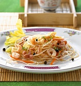 Shanghai glass noodle salad with shrimps (China)