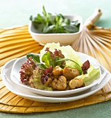 Salad with curried chicken breast (Indonesia)