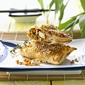 Tofu and red lentil pasties  (Japan)