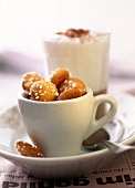 Amarettini in espresso cup
