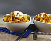 Tofu, Szeged style, with peppers and sauerkraut