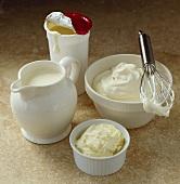 Liquid cream, whipped cream and butter cream