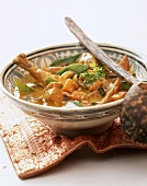 Chicken and vegetable curry from India