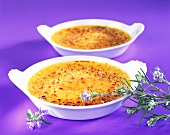 Crème brulee with rosemary