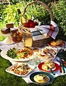 Italian picnic with vitello tonnato, tramezzini etc.
