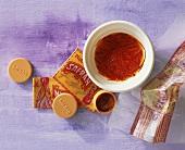 Saffron threads and saffron powder