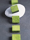 Sweets (Pave de Kyoto) rolled in green tea powder