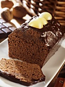 Chocolate cake with green grapes