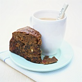 Piece of fruit cake to serve with tea