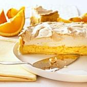 Orange tart with meringue topping