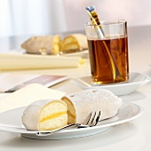 Marzipan potato with punch filling