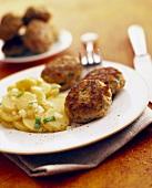 Rissoles with potato salad