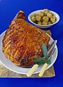 Roast ham with crackling