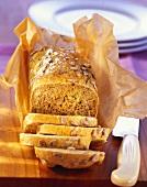 Spelt-kamut bread with vegetables