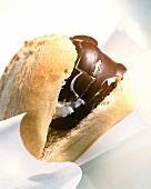 Chocolate marshmallow in roll