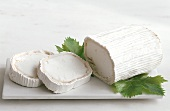 Chevre, a goat's cheese, cut into