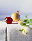 Tomato, onion, garlic and sage