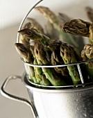 Steaming Green Asparagus