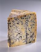 A piece of Roque bleu (blue-veined cheese)