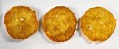 Three potato pancakes