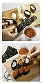 Making gunkan-maki