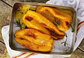 Peperoni al forno (Baked yellow peppers, Italy)