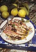 Triglie della nonna Peppina (Red mullet with oil & lemon)
