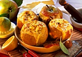 Lorraine brie apples (baked apples with cheese stuffing)