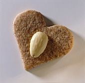 An almond heart