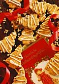 Festive Christmas trees and Christmas card